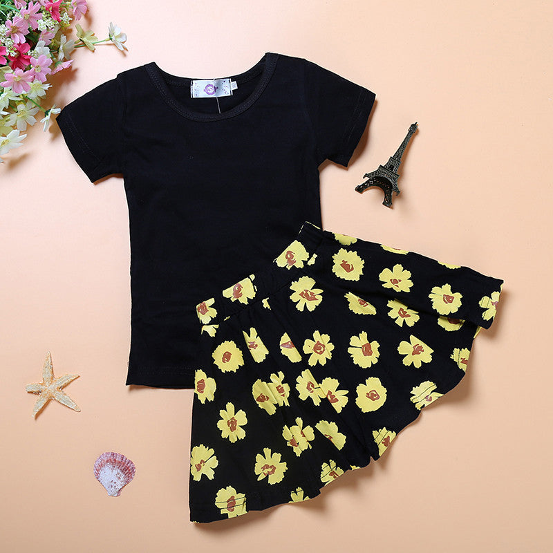 T-Shirt & Pleated Skirt Set - Beautiful Blessing Boutique Clothing Shop