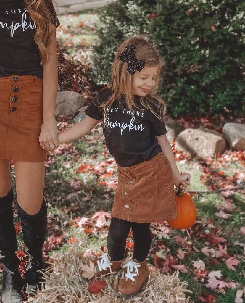 Hey There Pumpkin Matching Mommy and Me Shirts