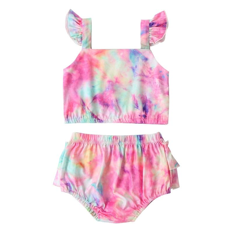 Tie-Dye Flying Sleeve Outfit