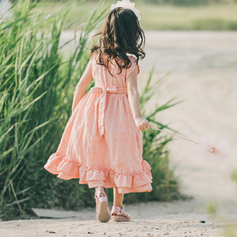 Ruffled Linen Sundress - Beautiful Blessing Boutique Clothing Shop