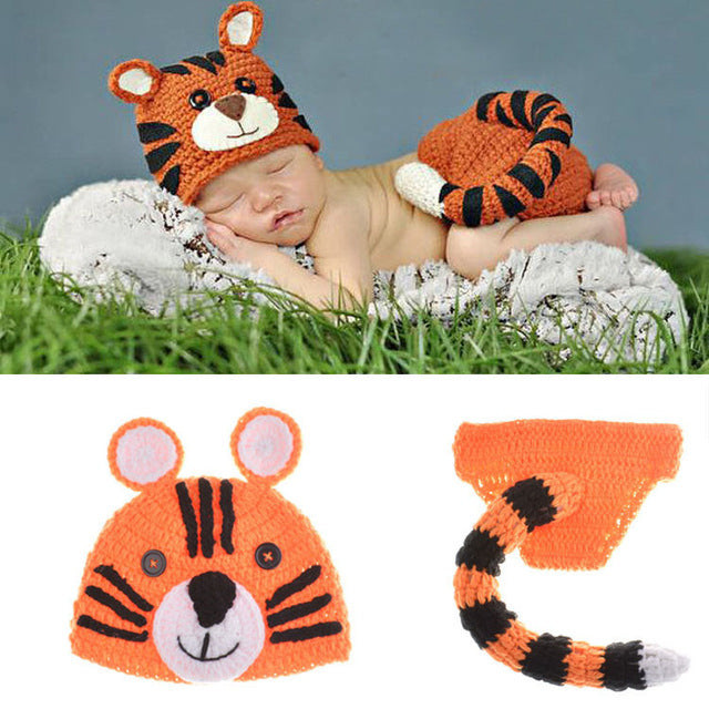 Tiger Newborn Photography Outfit - Beautiful Blessing Boutique Clothing Shop
