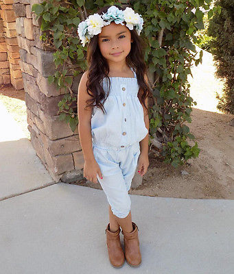 Girls Blue Top & Bottoms Set - Beautiful Blessing Boutique Clothing Shop