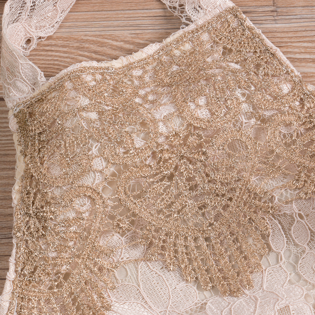 Gatsby Backless Lace Romper