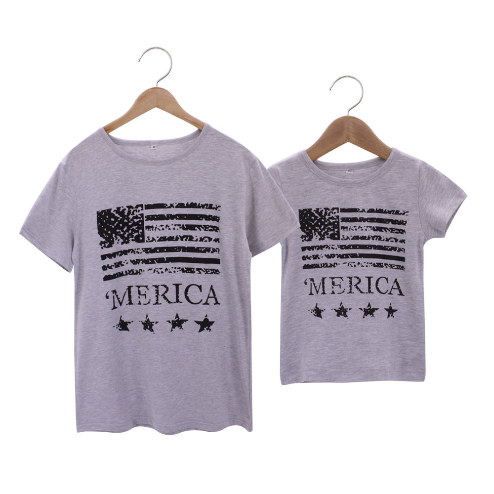 Merica Matching Father & Son Shirts - Beautiful Blessing Boutique Clothing Shop