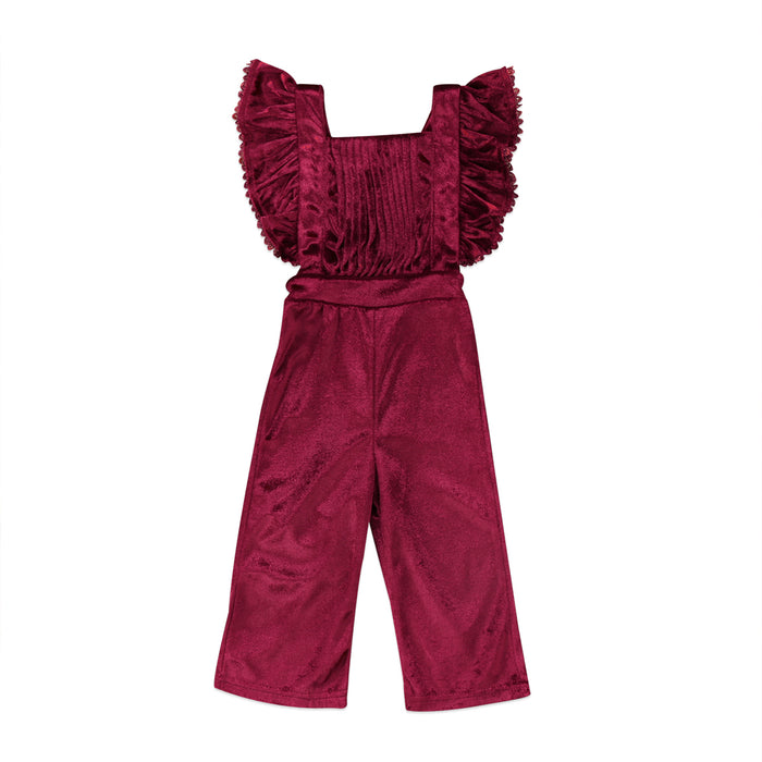 Velvet Jumpsuit - Beautiful Blessing Boutique Clothing Shop