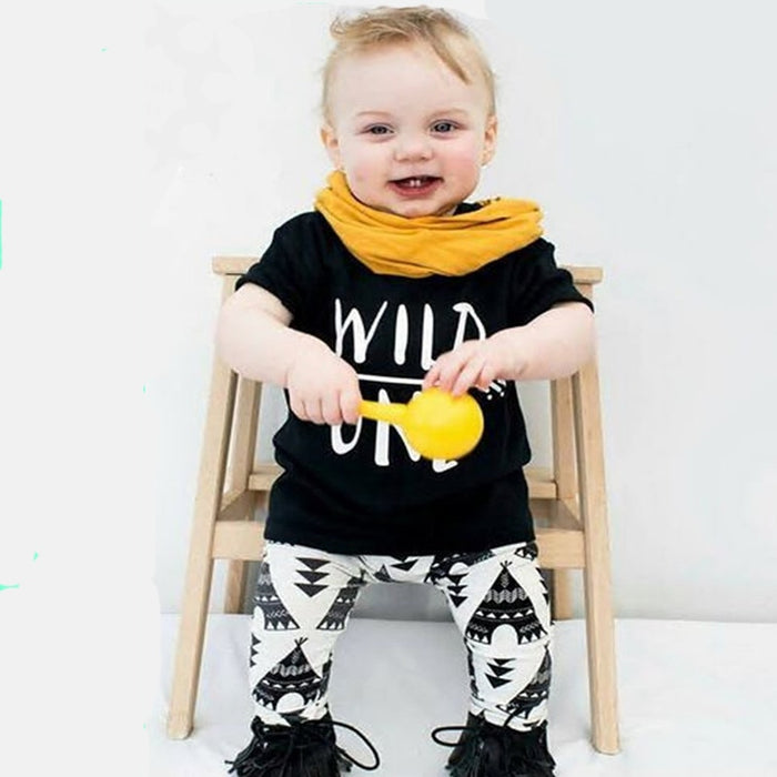 WILD ONE T-shirt +Trousers 2pcs/set