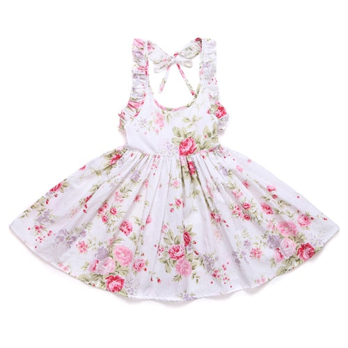 Scarlett Floral Backless Dress