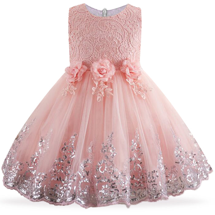 Floral Flower Girl Wedding Dress