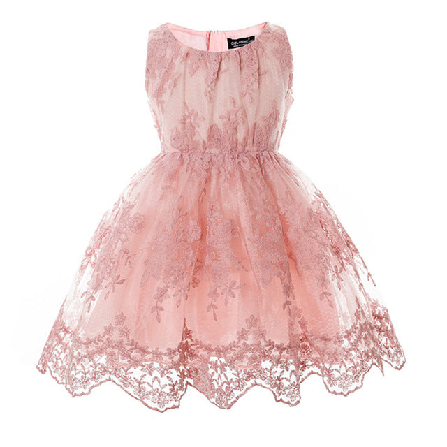 Girls Elegant Lace Dress - Beautiful Blessing Boutique Clothing Shop
