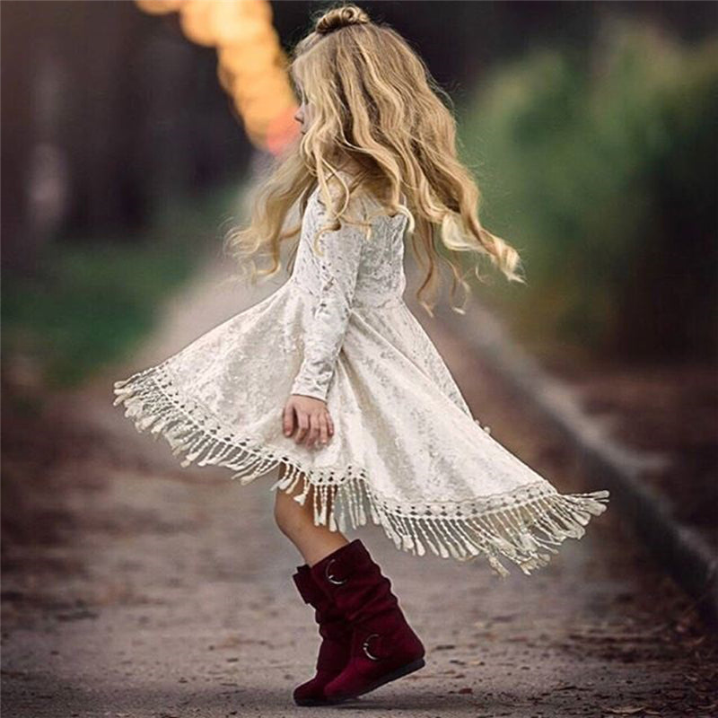 Girls Velvet Dress - Beautiful Blessing Boutique Clothing Shop