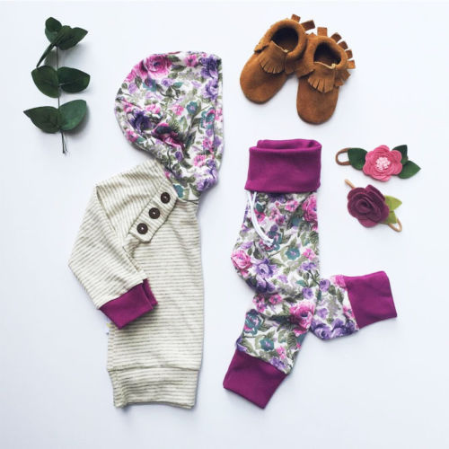 Fall Floral Hoodie Outfit