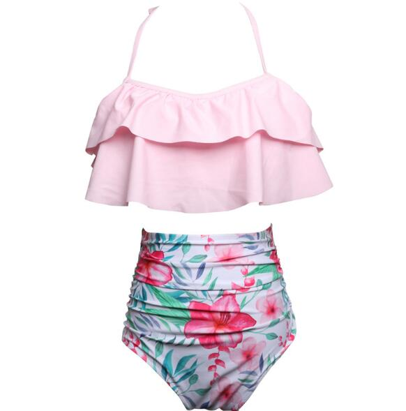 Mommy & Me Matching High Waist Floral Bikini - Beautiful Blessing Boutique Clothing Shop