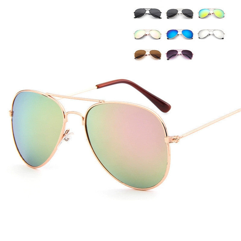 Mirror-Reflective Metal Aviator Sunglasses - Beautiful Blessing Boutique Clothing Shop