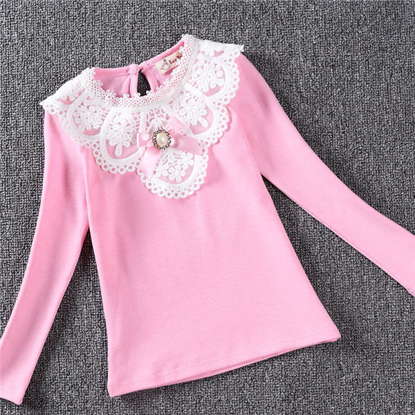 Lace Flower Long Sleeve Blouse - Beautiful Blessing Boutique Clothing Shop
