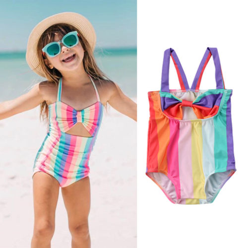 84e09f7d8fdb5 Stripe Rainbow Swimsuit · Stripe Rainbow Swimsuit. $15.99 · Ruffle Bikini  Swimwear