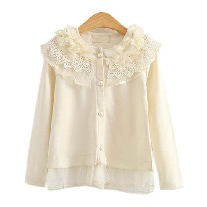 Ruffle Flower Cardigan