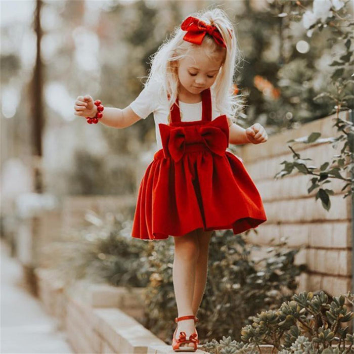 Red Bow Christmas Dress