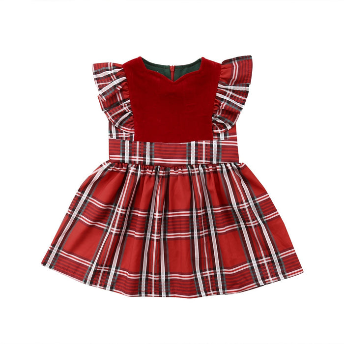 Red Plaid Christmas Dress