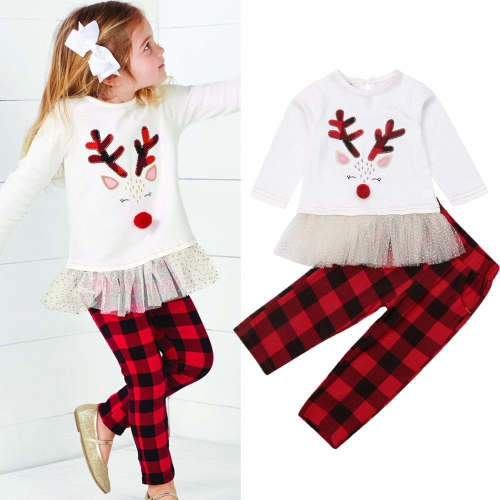 Plaid Rudolph Outfit
