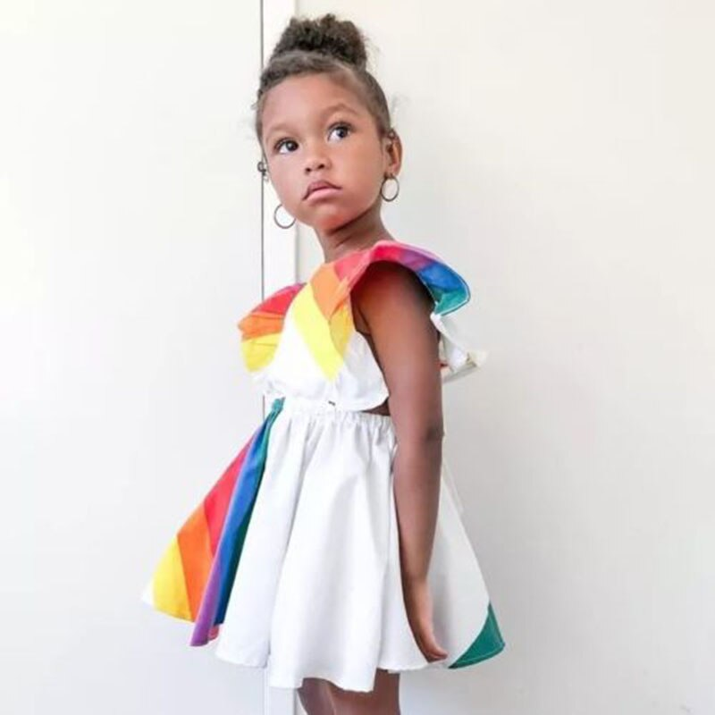 Backless Rainbow Sundress
