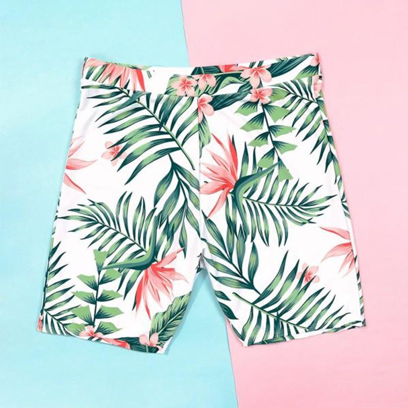 Tropical Leaf Matching Family Swimwear