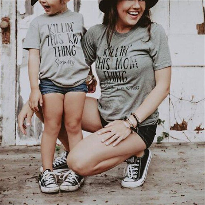 Killin' This Mom/kid Thing Matching Shirts