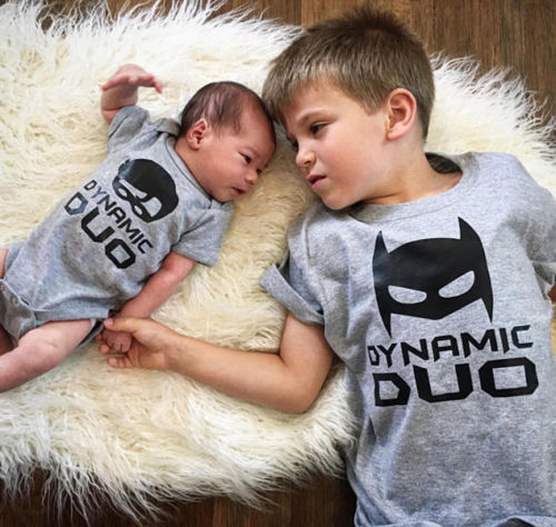 Dynamic Duo Matching Sibling Shirts