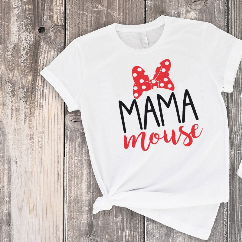 Mama Mouse & Mini Mouse Matching Shirts