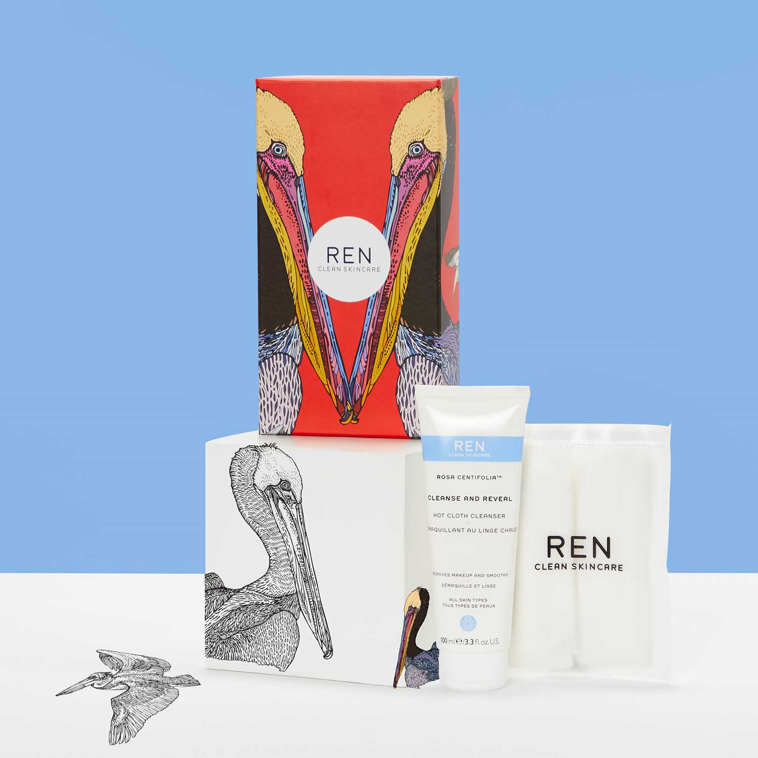 REN Clean Skincare Cleanse and Reveal Cleanser Holiday Gift Set