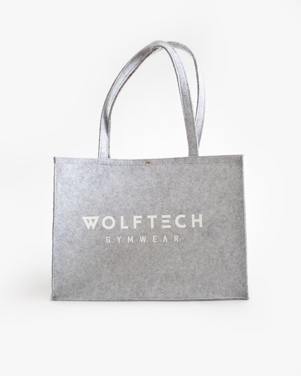 Felt gym bag from wolftech gym wear
