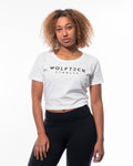 Cropped T-shirt women white from wolftech gym wear