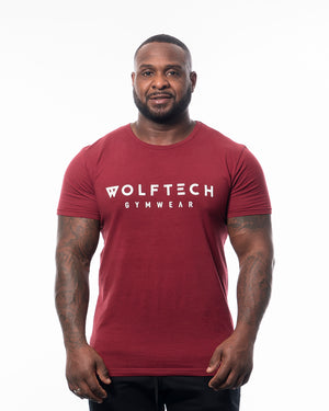 Fitted T-shirt red from wolftech gym wear