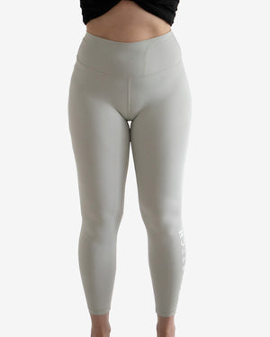 High waisted leggings grey fitness from wolftech gym wear