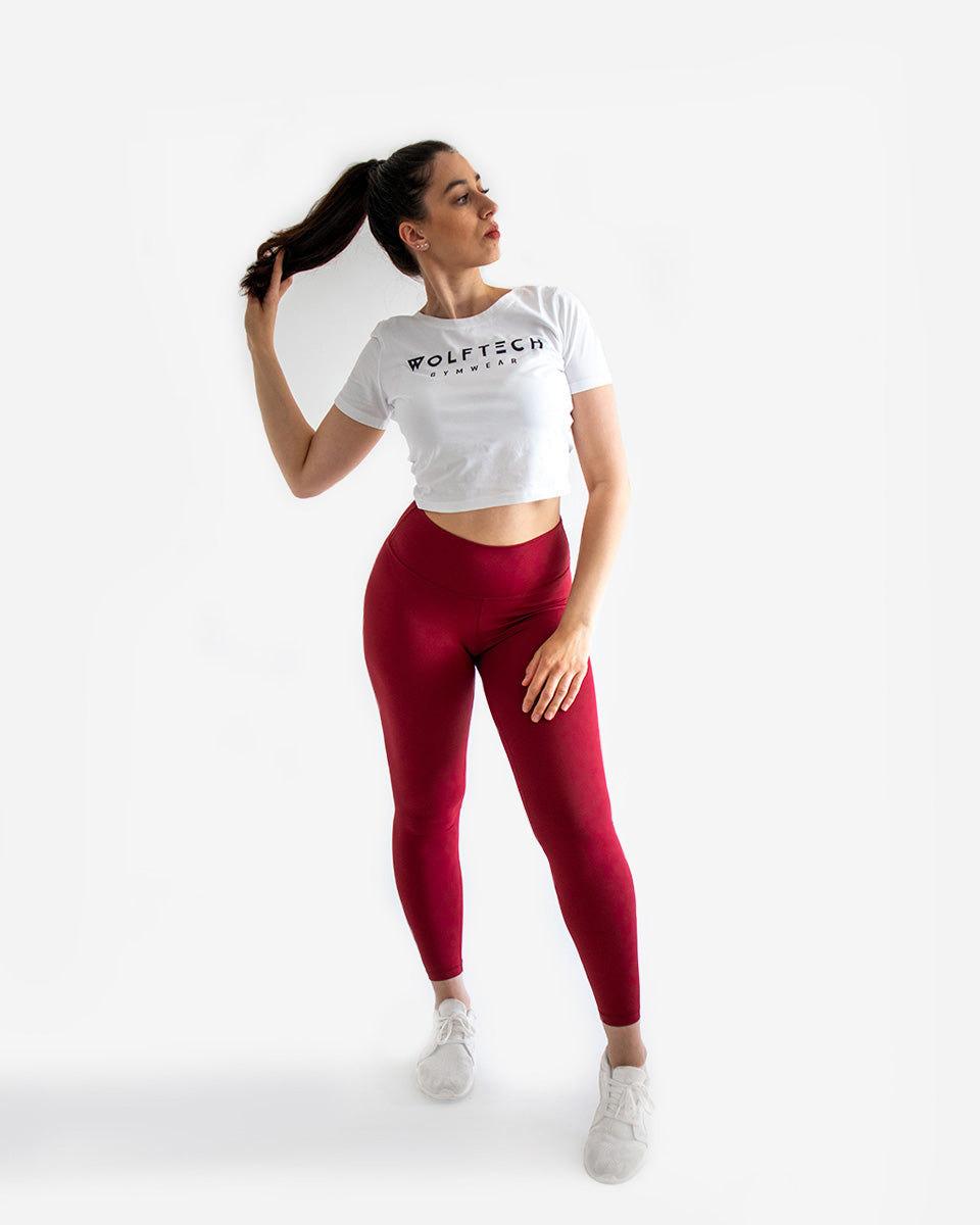 High waisted leggings black fitness from wolftech gym wear