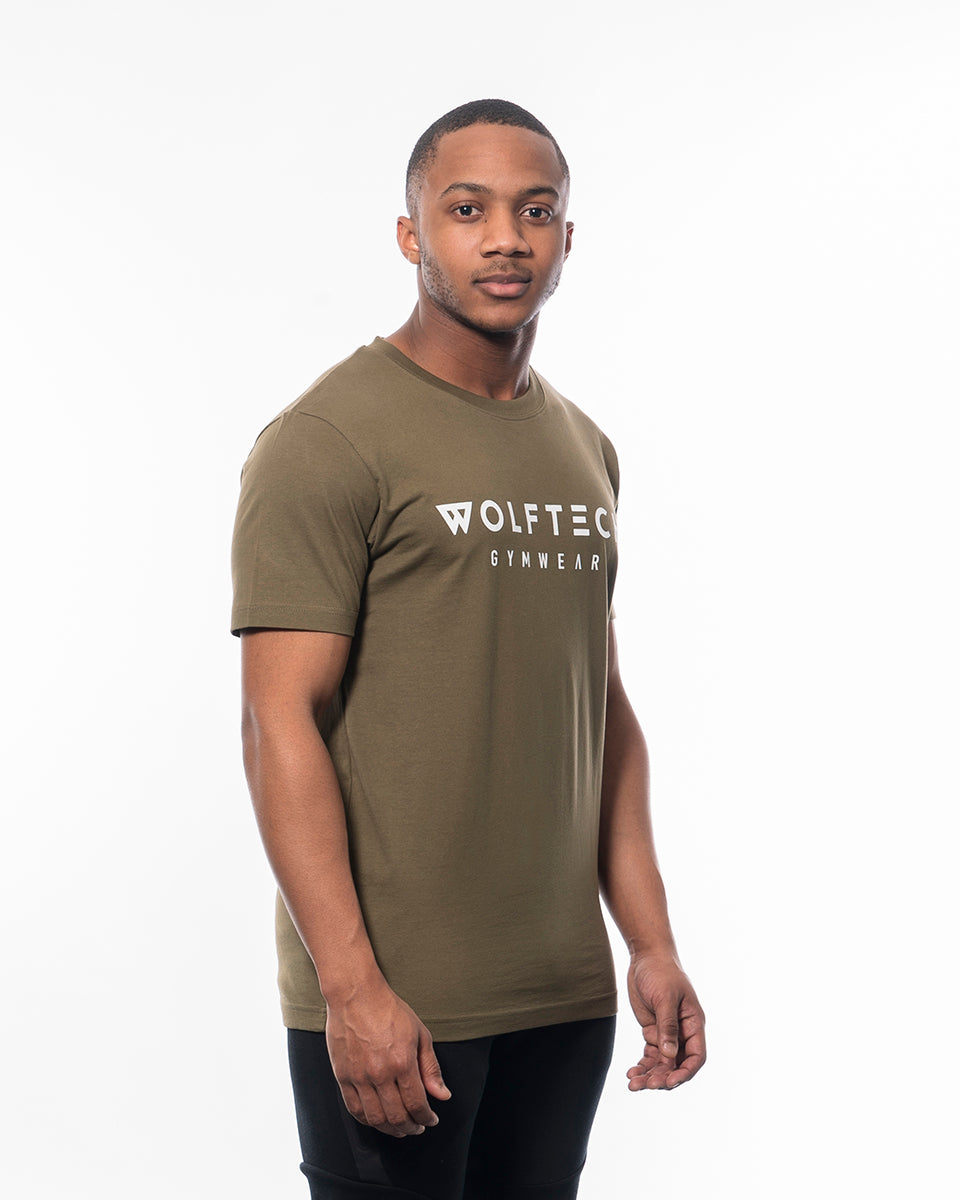 Regular T-shirt olive green from wolftech gym wear