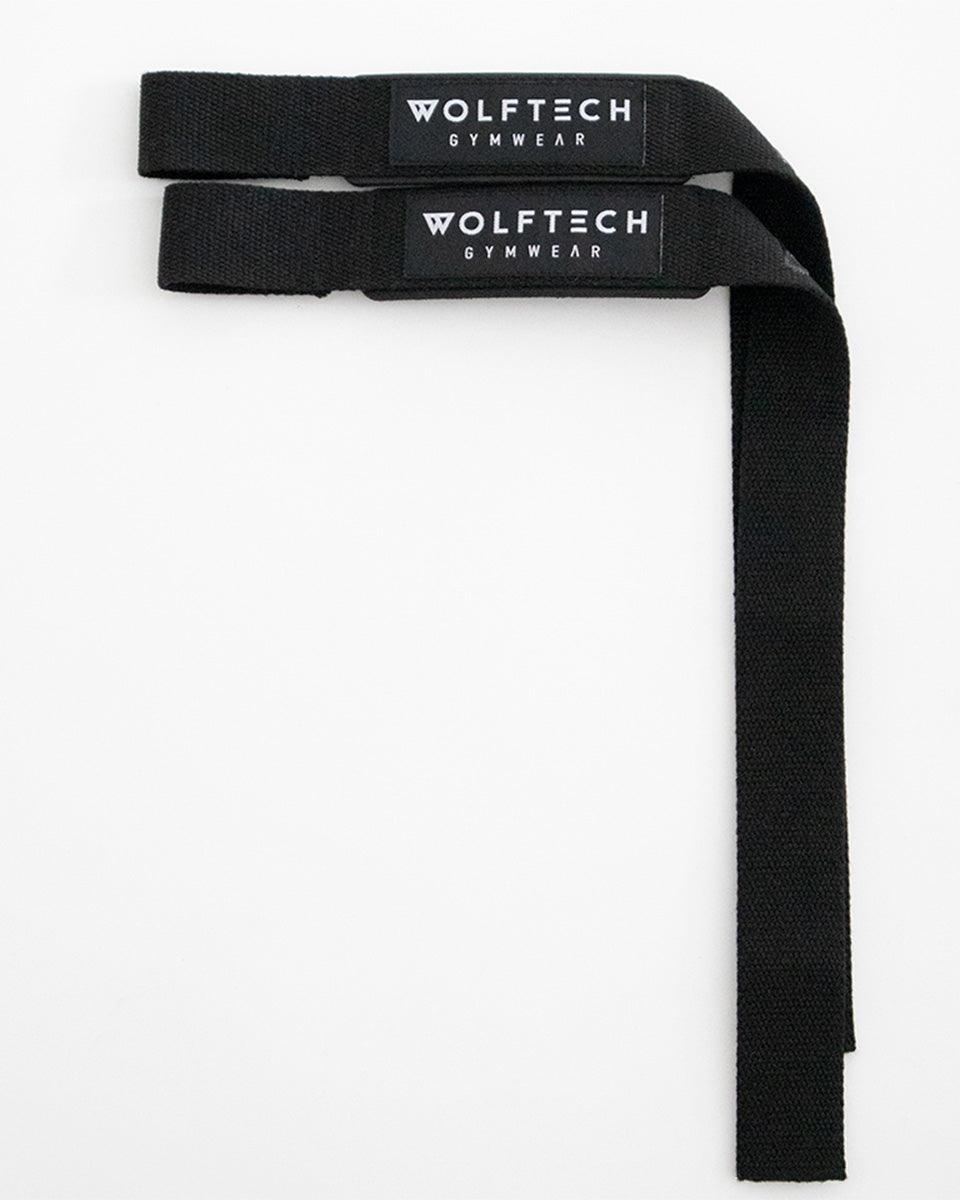 Padded lifting straps from wolftech gym wear