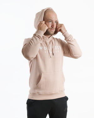 Fitness hoodie light rose pink men from wolftech gym wear