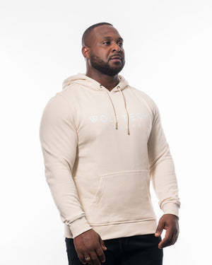 Fitness hoodie sand beige men from wolftech gym wear