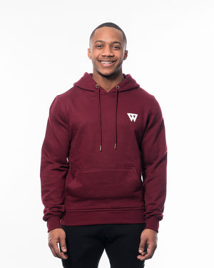 Fitness hoodie red men from wolftech gym wear
