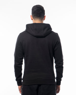 Fitness hoodie black men from wolftech gym wear