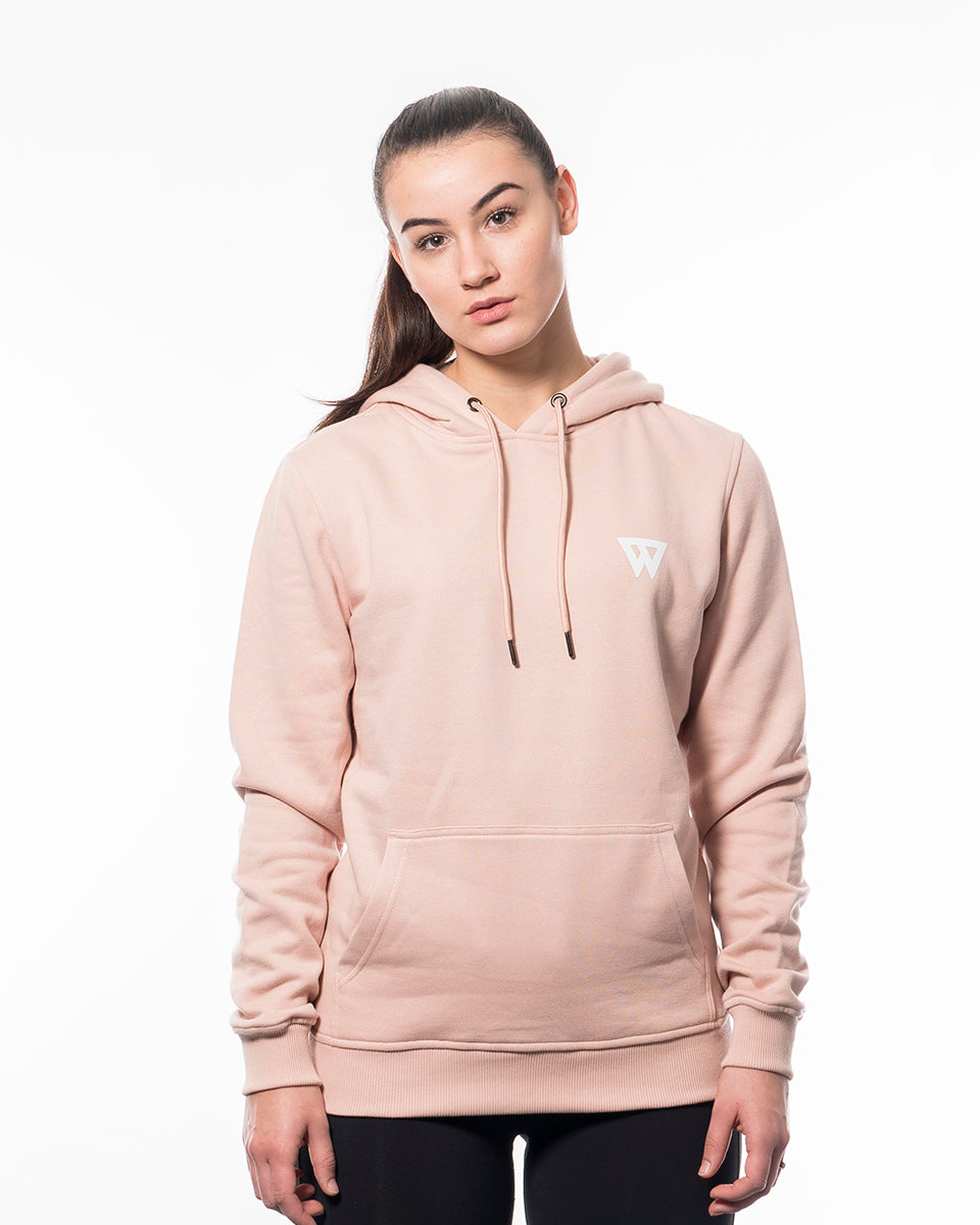Fitness hoodie light rose pink women from wolftech gym wear