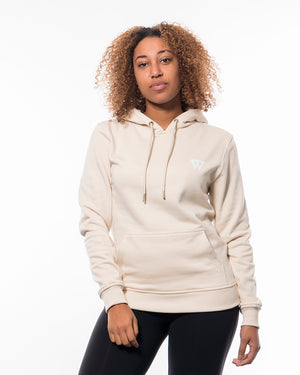 Fitness hoodie sand beige women from wolftech gym wear