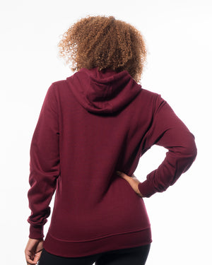 Fitness hoodie red women from wolftech gym wear