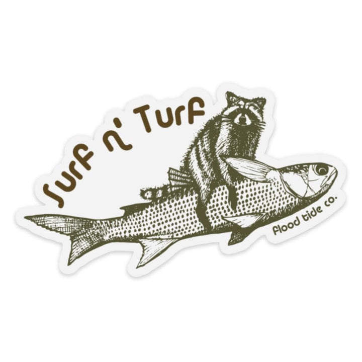 Surf N' Turf Sticker