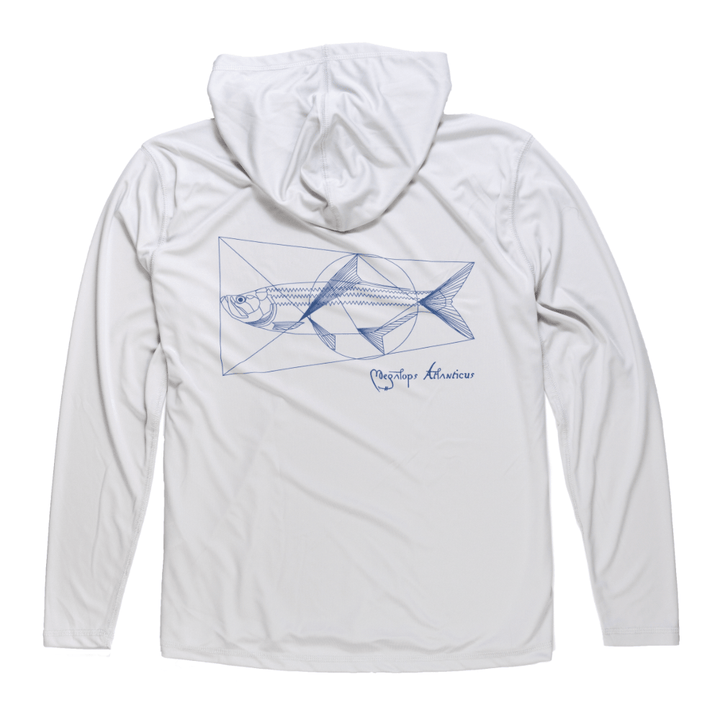 Vitruvian Tarpon Hooded Sunshirt