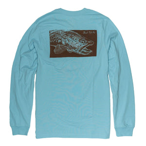 Brown Trout Print Long Sleeve T-Shirt