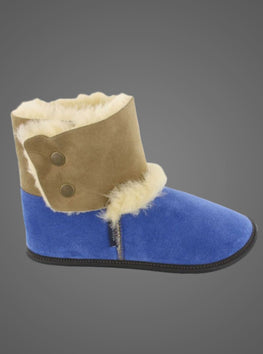 GARNEAU REVERSED SHEEPSKIN BOOTIE SLIPPERS