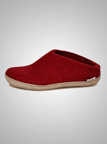 Mens Glerups Slippers with Leather Sole