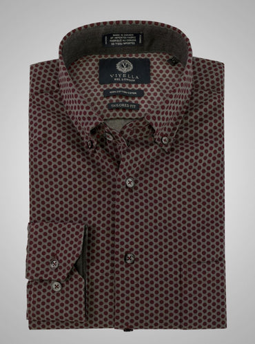 Viyella Tailored Fit Red Shirt