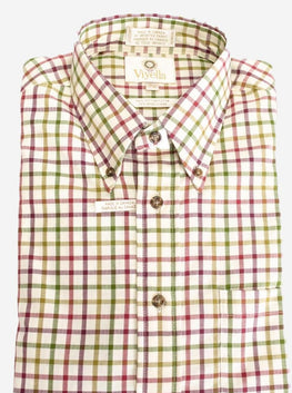 Button-Down Collar, Long Sleeve, Plaid Sport Shirt Style: 451447